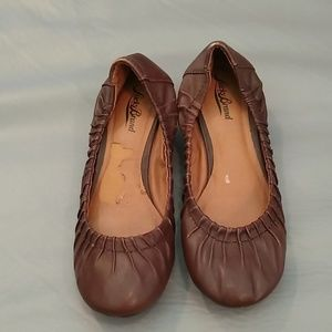 Lucky Brand brown wedge heels